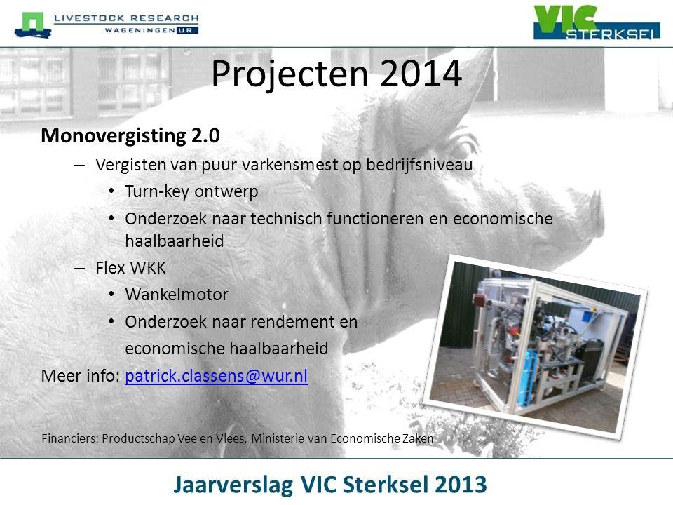 Projecten 2014 Monovergisting 2.0