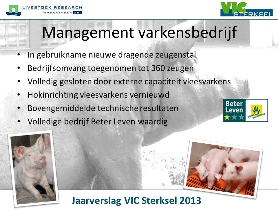 Management varkensbedrijf