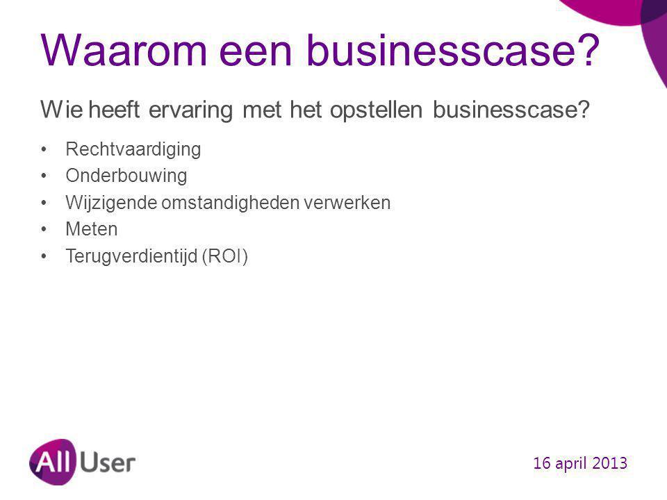 Waarom een businesscase