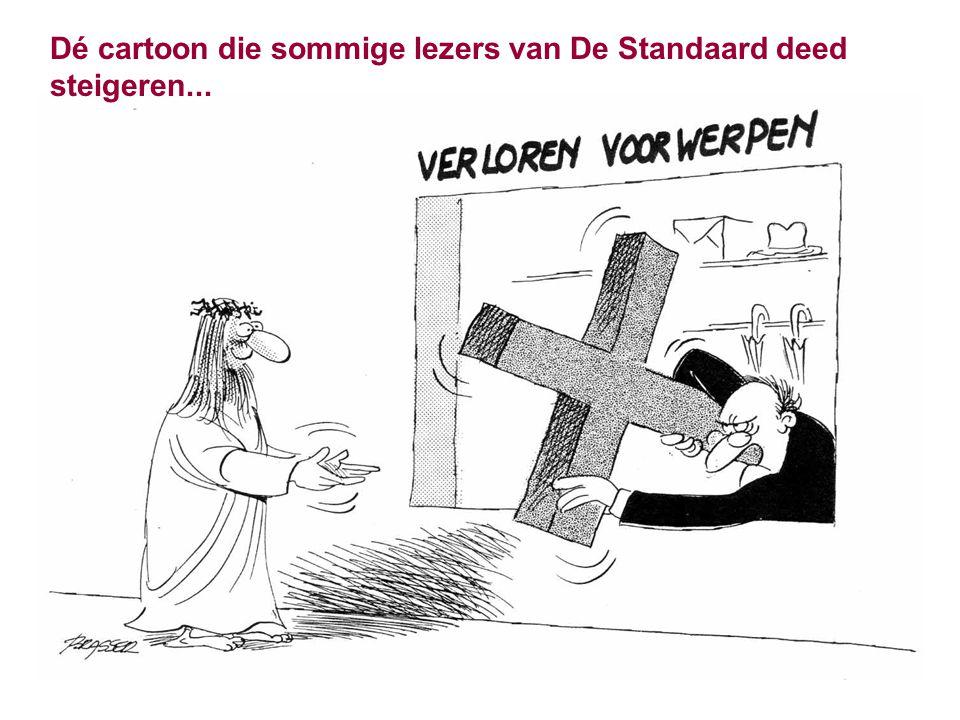 Dé cartoon die sommige lezers van De Standaard deed steigeren...