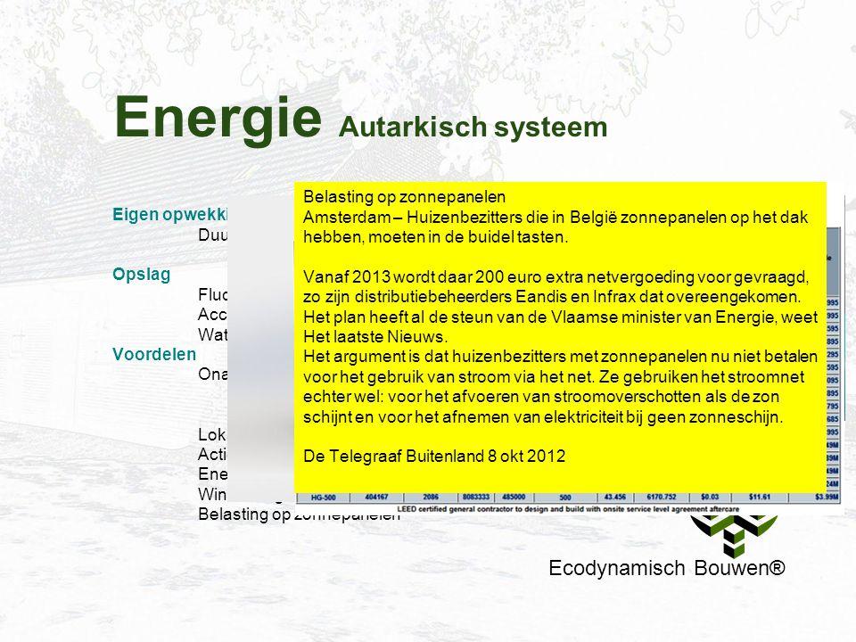 Energie Autarkisch systeem