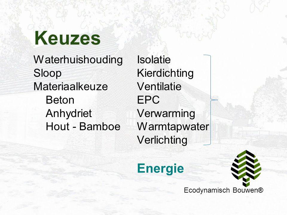 Keuzes Energie Waterhuishouding Sloop Materiaalkeuze Beton Anhydriet