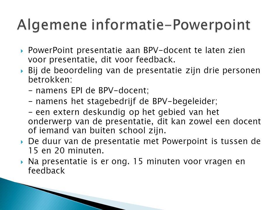 Algemene informatie-Powerpoint