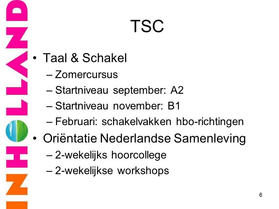 TSC Taal & Schakel Oriëntatie Nederlandse Samenleving Zomercursus