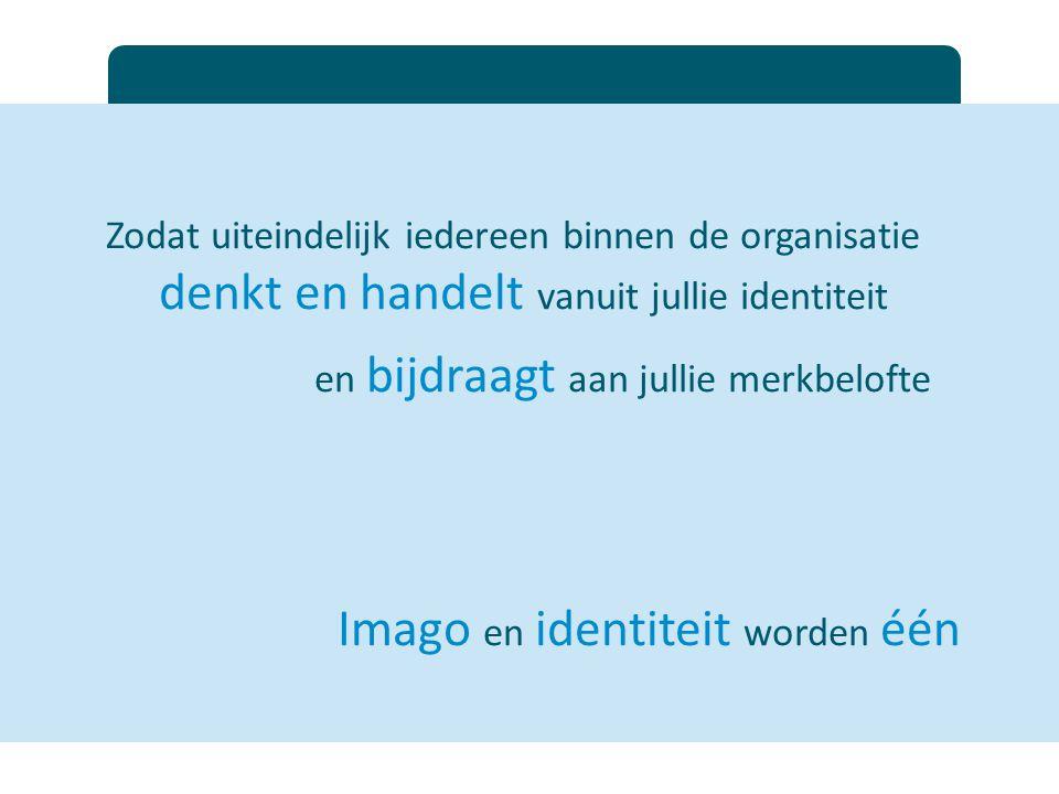 Imago en identiteit worden één