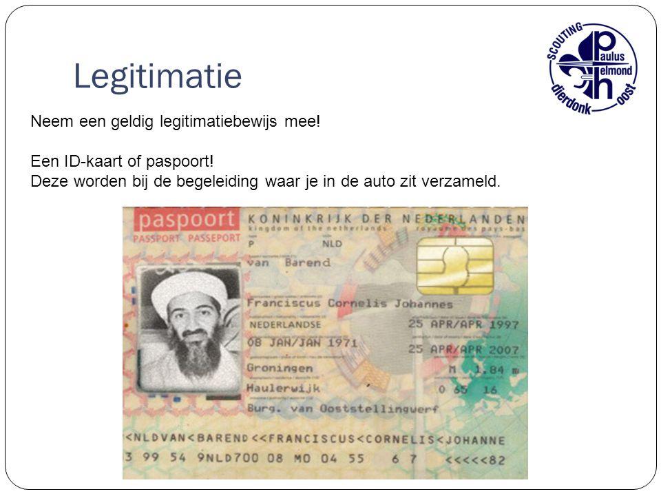 Legitimatie Neem een geldig legitimatiebewijs mee!