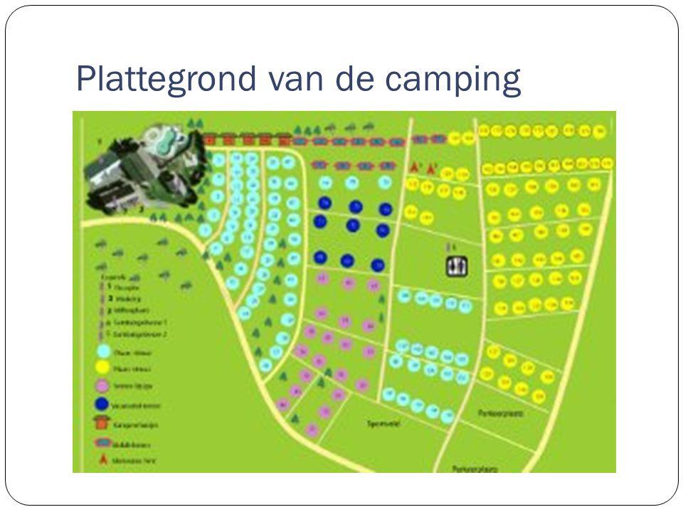 Plattegrond van de camping
