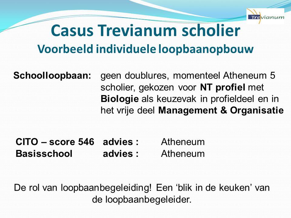 Casus Trevianum scholier Voorbeeld individuele loopbaanopbouw