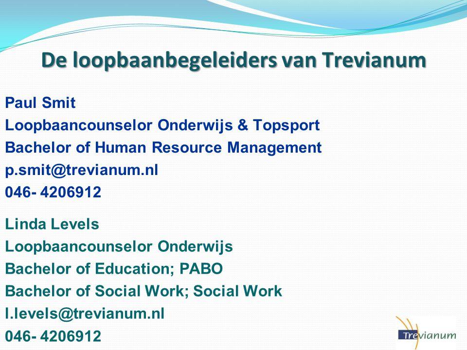 De loopbaanbegeleiders van Trevianum