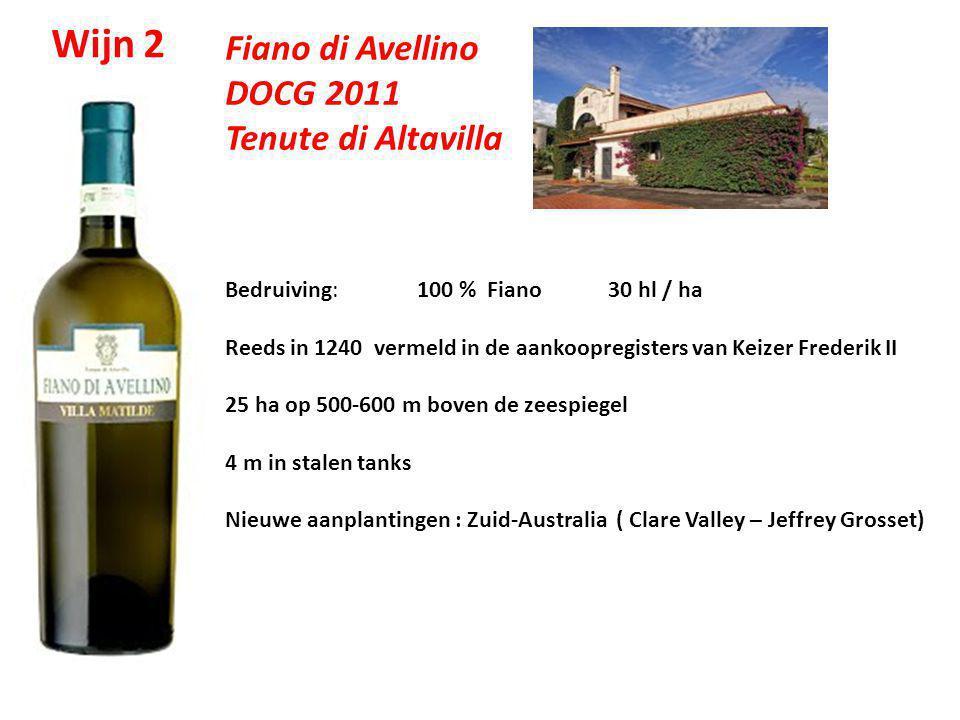 Wijn 2 Fiano di Avellino DOCG 2011 Tenute di Altavilla