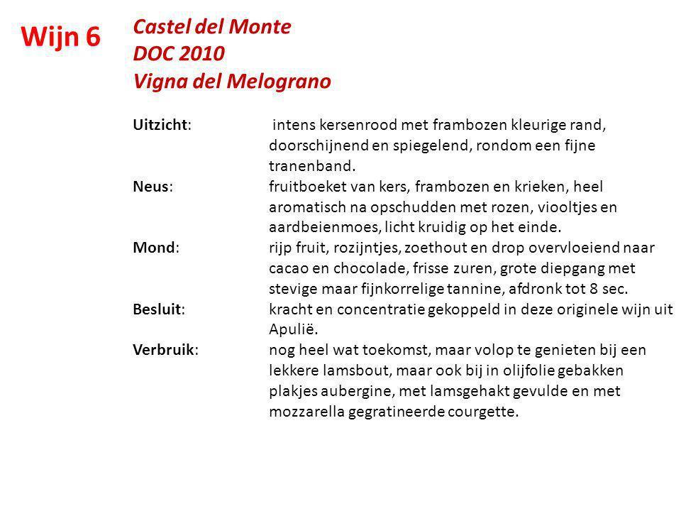 Wijn 6 Castel del Monte DOC 2010 Vigna del Melograno