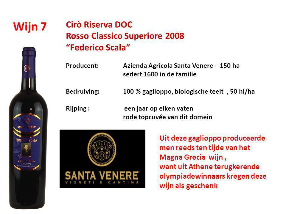 Wijn 7 Cirò Riserva DOC Rosso Classico Superiore 2008 Federico Scala