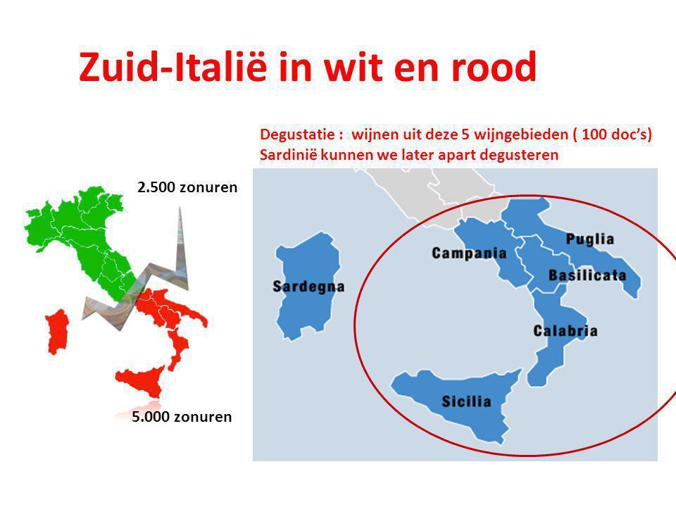 Zuid-Italië in wit en rood