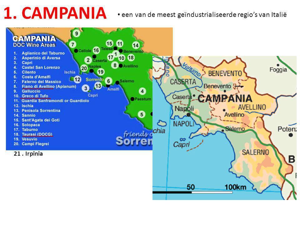 1. CAMPANIA een van de meest geïndustrialiseerde regio's van Italië
