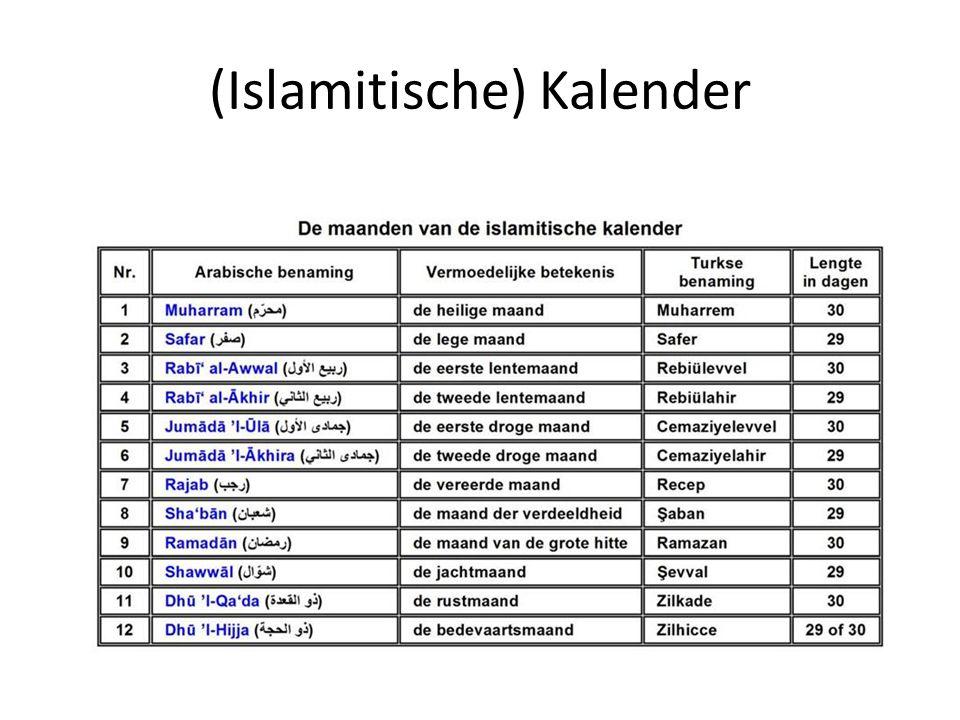 (Islamitische) Kalender
