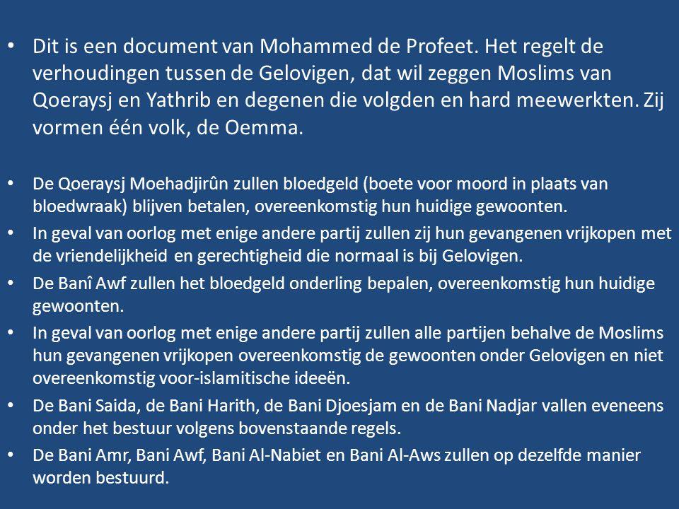 Dit is een document van Mohammed de Profeet