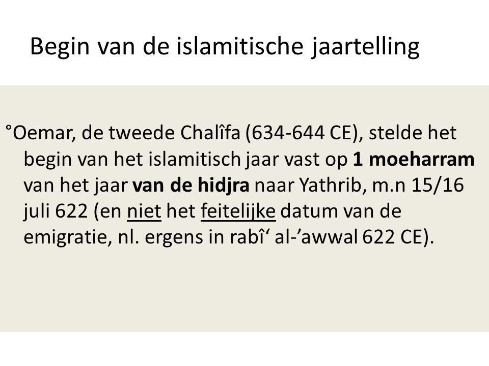 Begin van de islamitische jaartelling