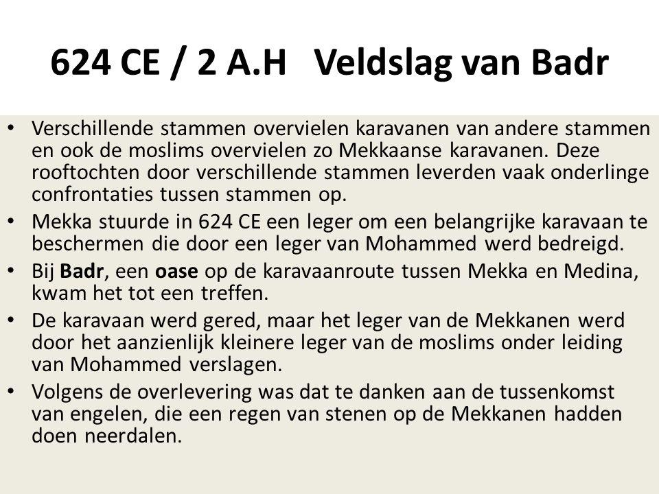 624 CE / 2 A.H Veldslag van Badr