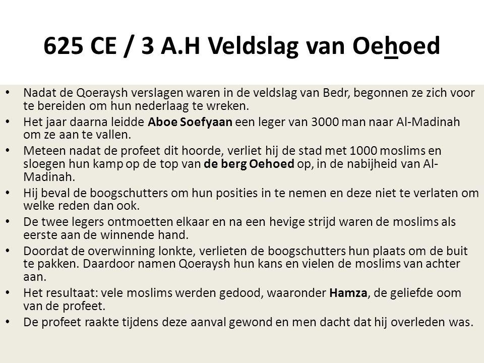 625 CE / 3 A.H Veldslag van Oehoed
