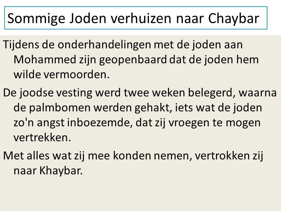 Sommige Joden verhuizen naar Chaybar
