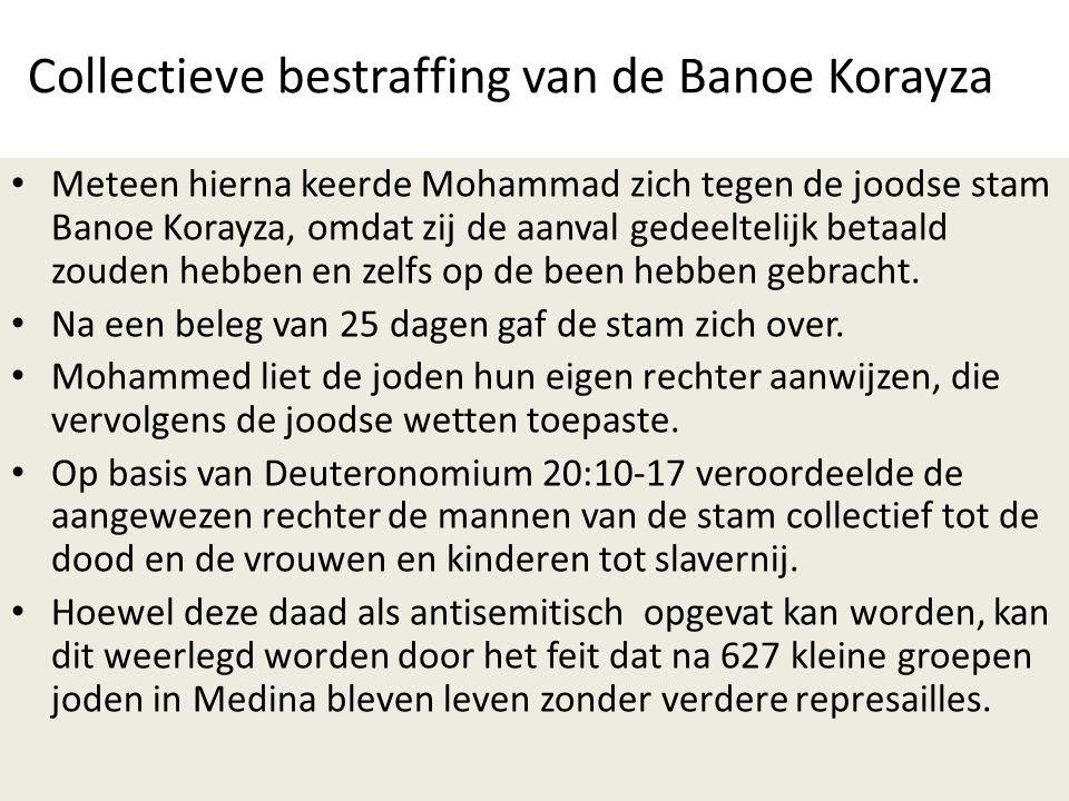 Collectieve bestraffing van de Banoe Korayza