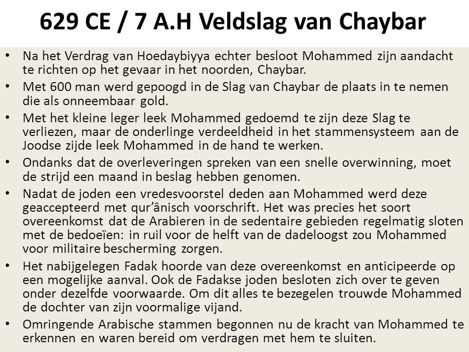 629 CE / 7 A.H Veldslag van Chaybar