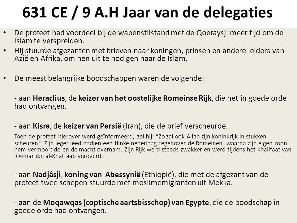 631 CE / 9 A.H Jaar van de delegaties