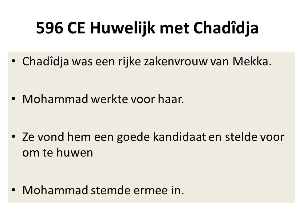596 CE Huwelijk met Chadîdja
