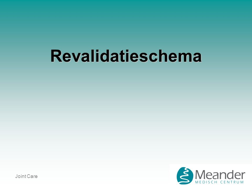 Revalidatieschema Joint Care