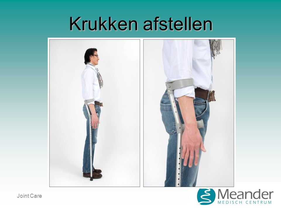 Krukken afstellen Joint Care