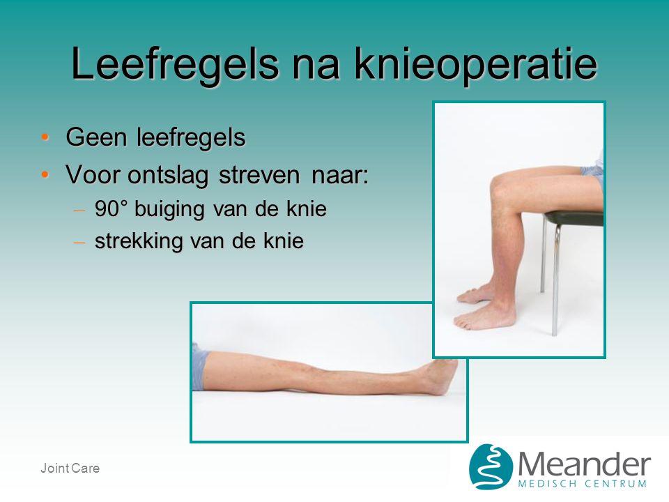 Leefregels na knieoperatie