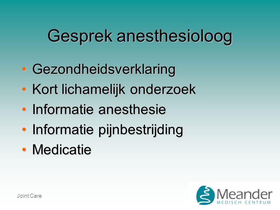 Gesprek anesthesioloog