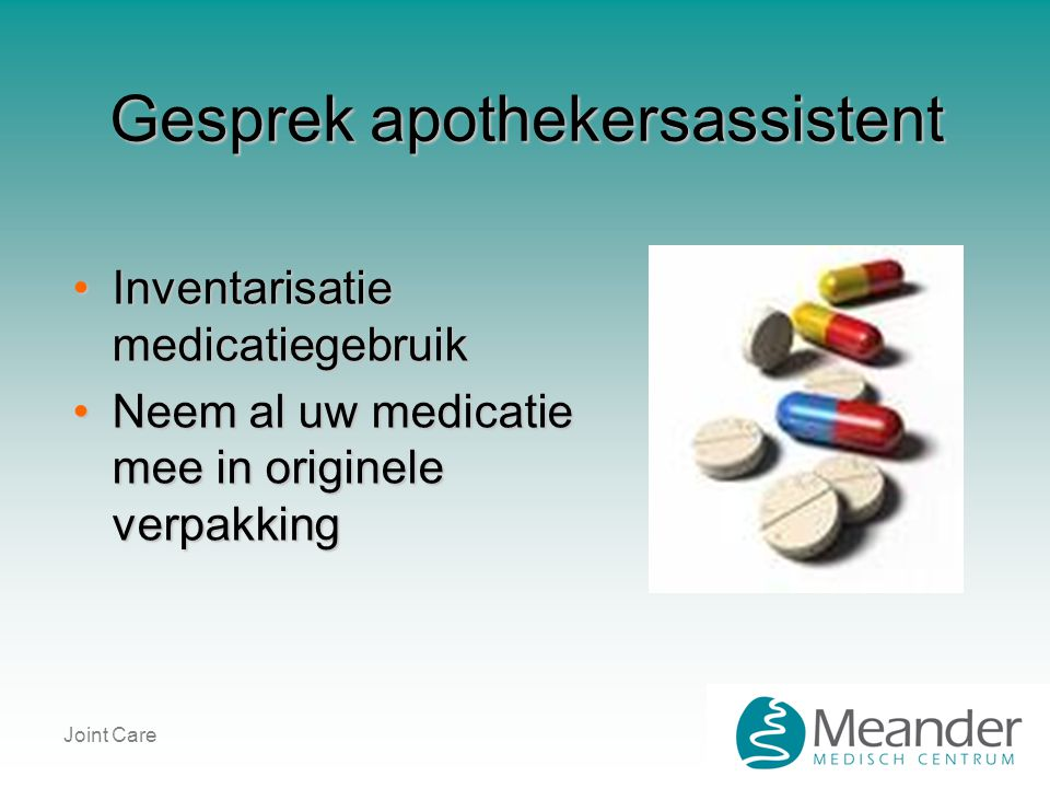 Gesprek apothekersassistent