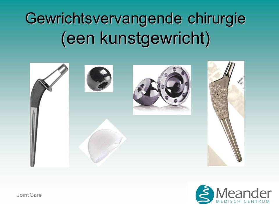 Gewrichtsvervangende chirurgie (een kunstgewricht)
