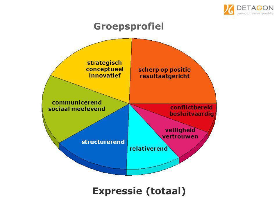 Groepsprofiel Expressie (totaal) strategisch conceptueel innovatief