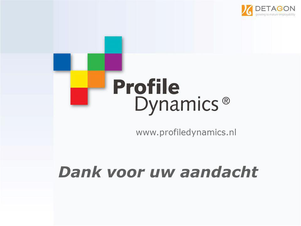 www.profiledynamics.nl Dank voor uw aandacht