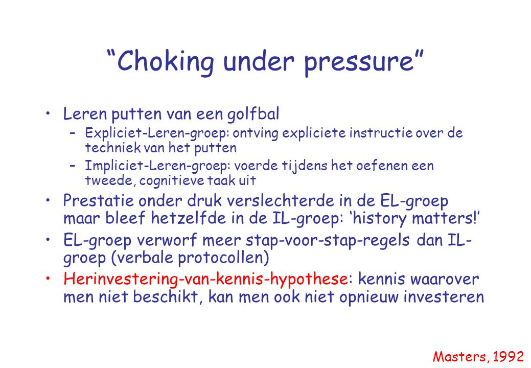 Choking under pressure