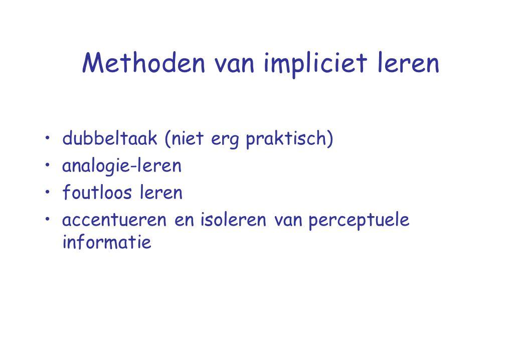 Methoden van impliciet leren