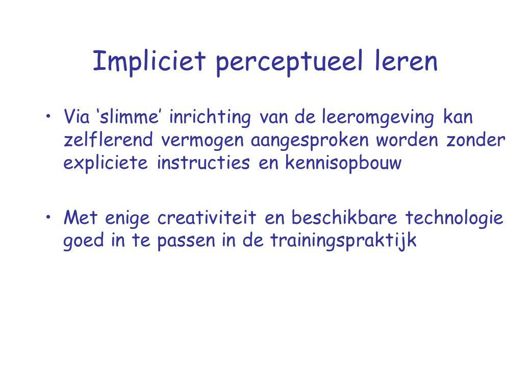 Impliciet perceptueel leren