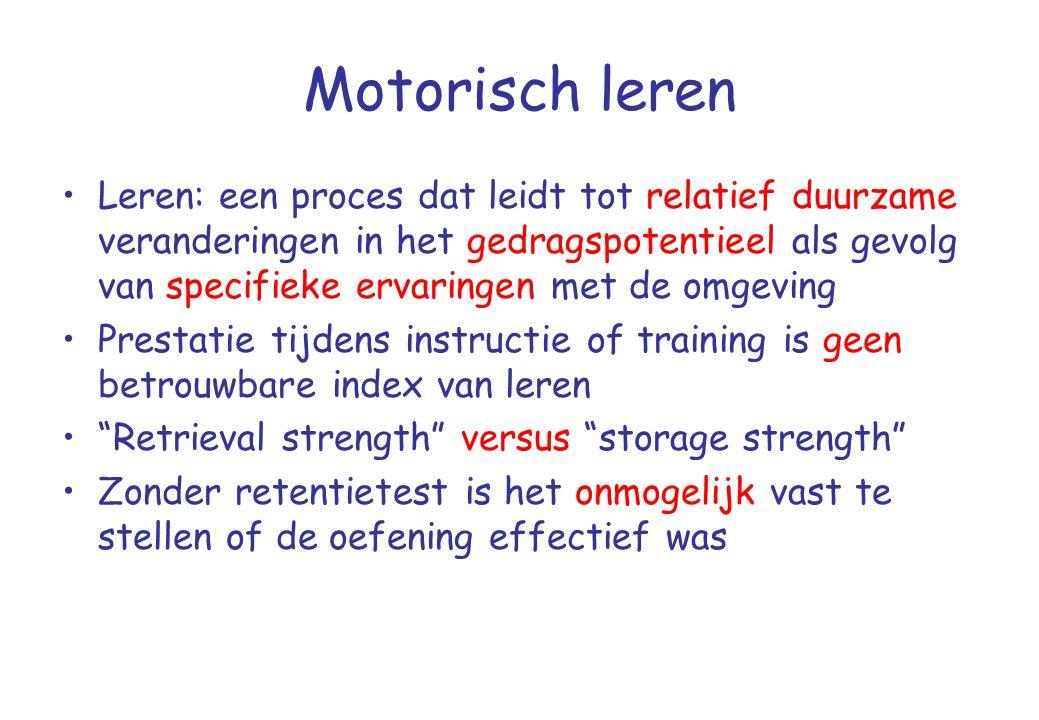 Motorisch leren