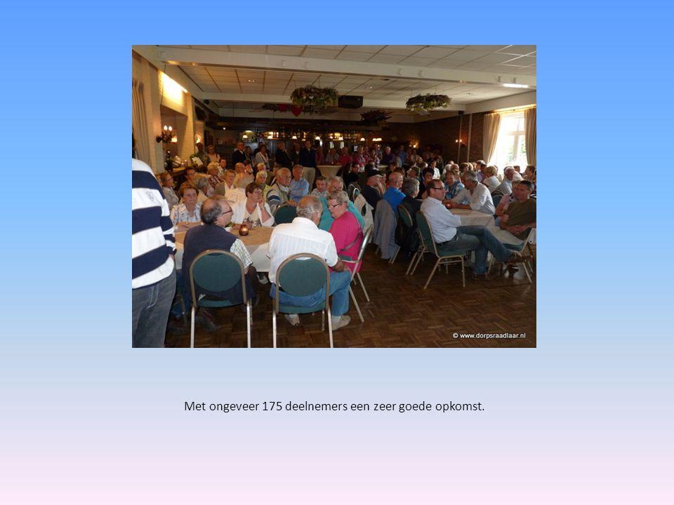 Met ongeveer 175 deelnemers een zeer goede opkomst.