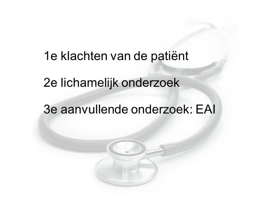 1e klachten van de patiënt