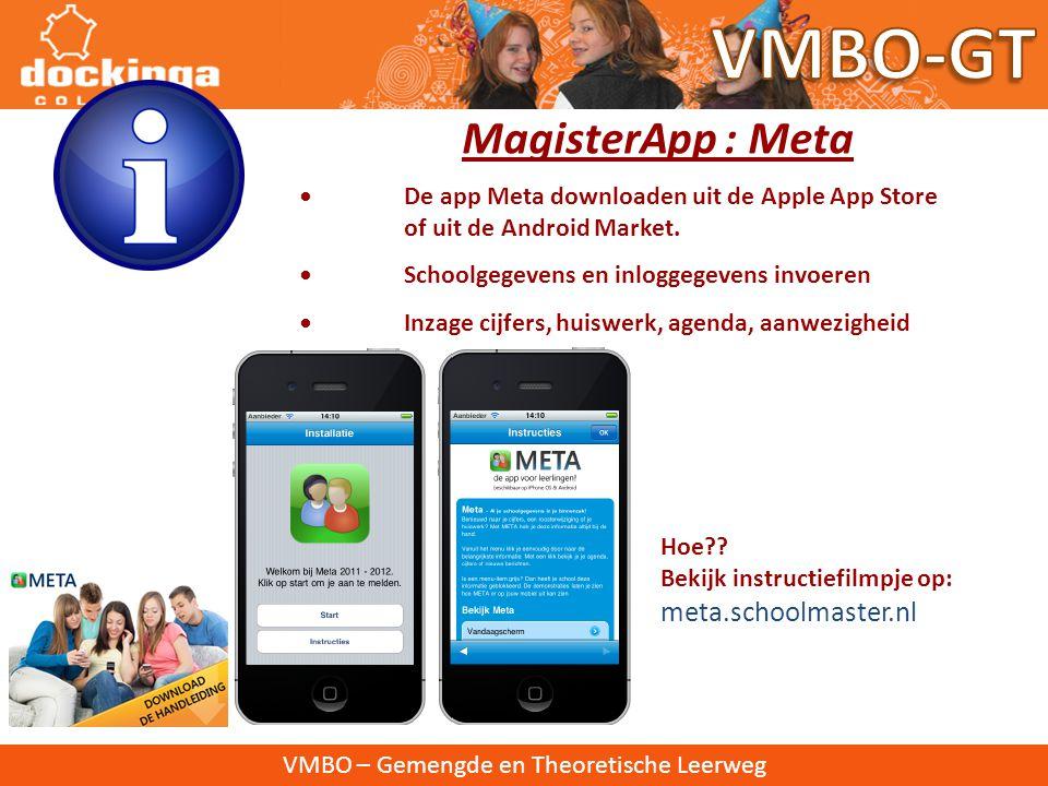 VMBO-GT MagisterApp : Meta meta.schoolmaster.nl