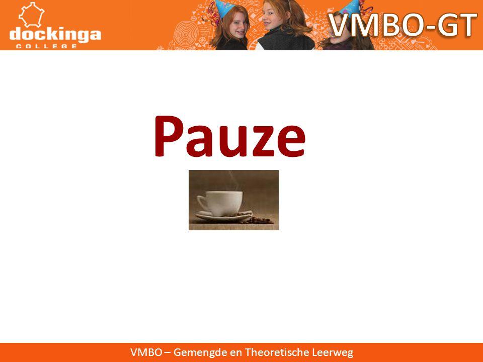 Pauze VMBO-GT VMBO – Gemengde en Theoretische Leerweg