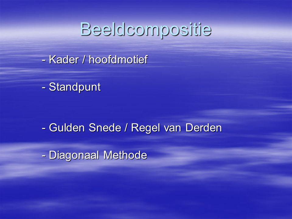 Beeldcompositie - Kader / hoofdmotief - Standpunt