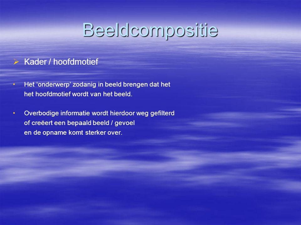 Beeldcompositie Kader / hoofdmotief