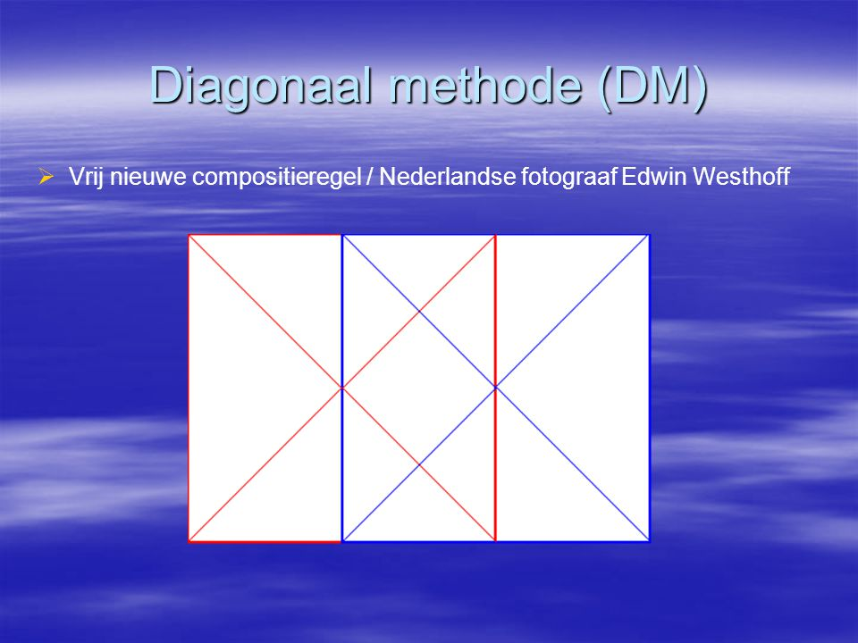 Diagonaal methode (DM)
