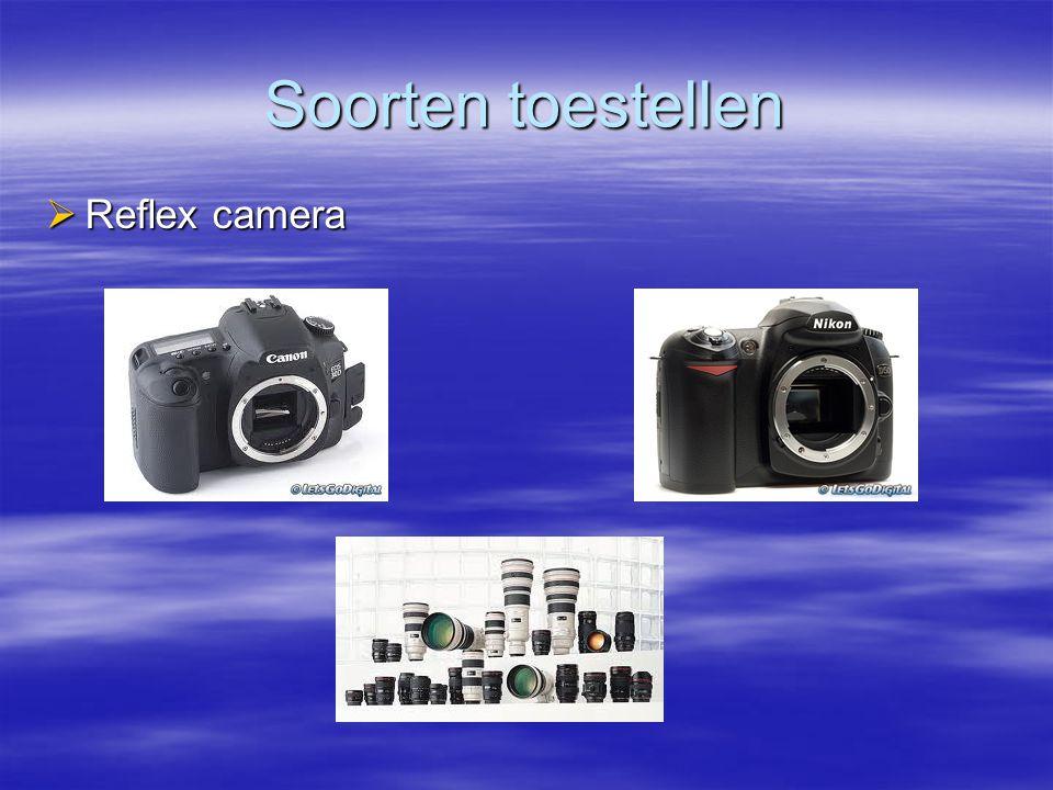 Soorten toestellen Reflex camera
