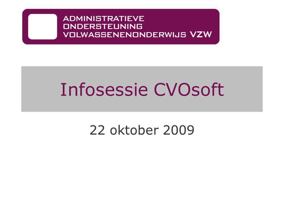 Infosessie CVOsoft 22 oktober 2009