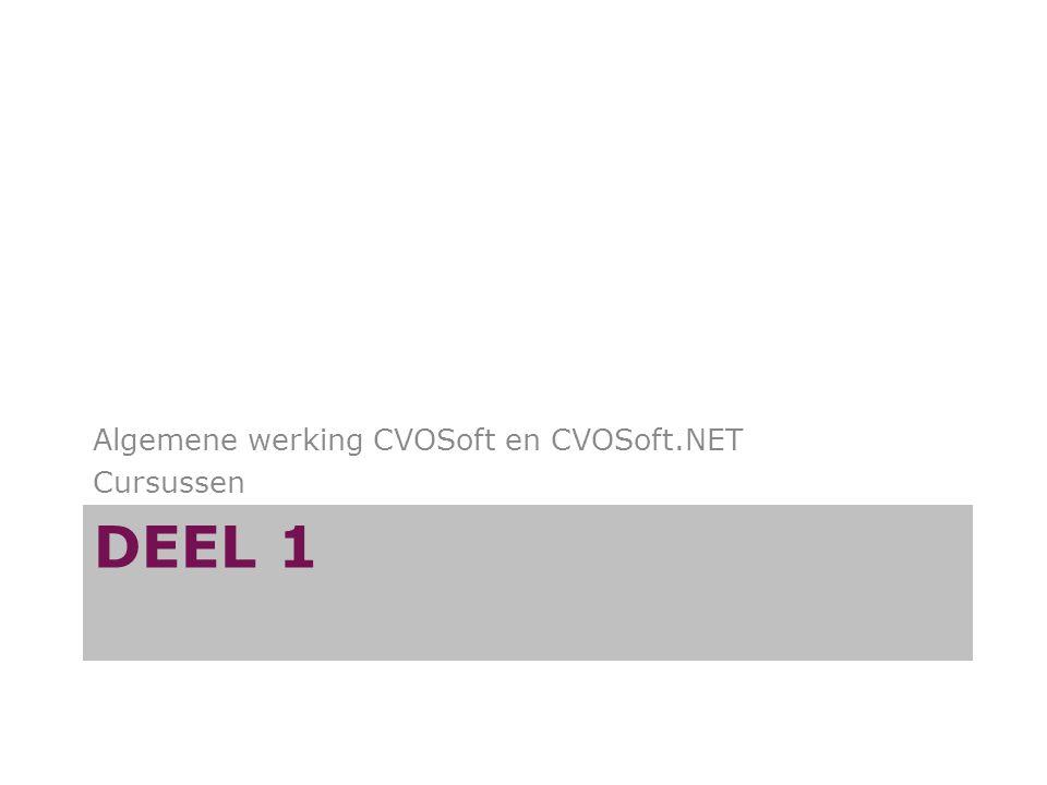 Algemene werking CVOSoft en CVOSoft.NET